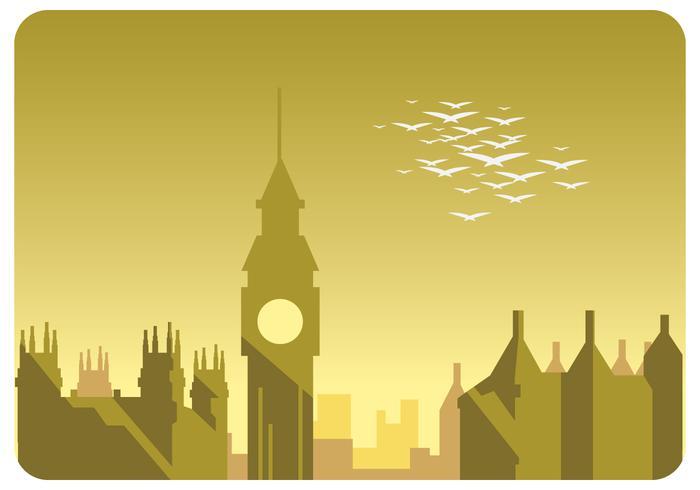 Londen landschap Vector