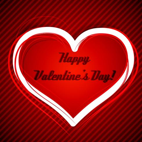 Valentijnsdag hart vectorillustratie vector