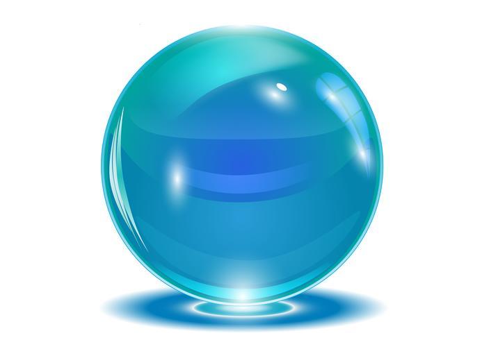 Blauwe abstracte bol, vector