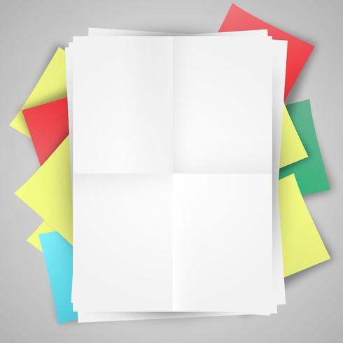 Blanco papieren en post-it-s vector