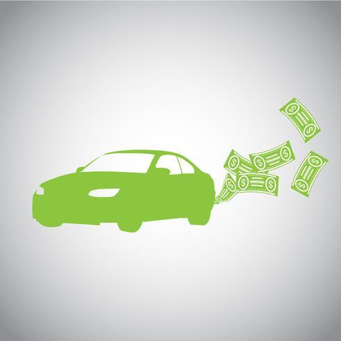 Auto en geld vector