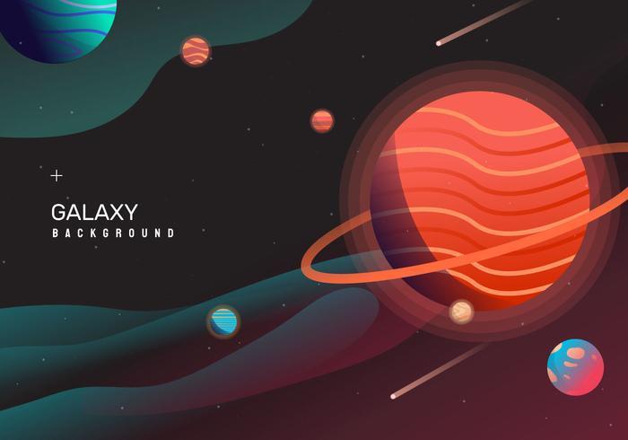 Hot Space Galaxy Backgrond vector illustratie