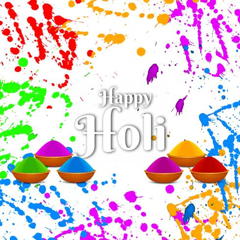 Abstracte gelukkige Holi religieuze kleurrijke festival achtergrond vector