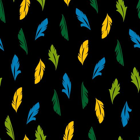 Vector naadloos patroon met abstracte veren.