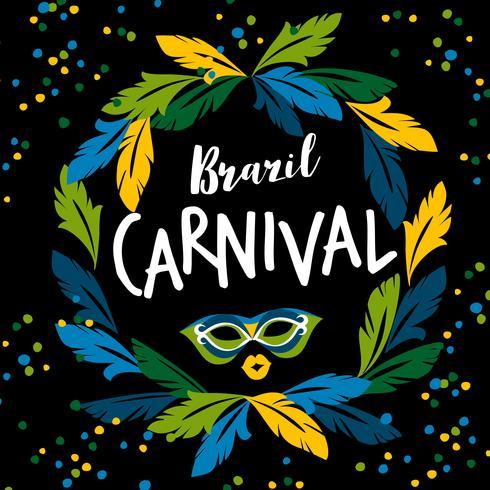 Carnaval van Brazilië. Vectormalplaatje voor Carnaval-concept vector