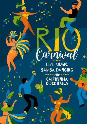 Carnaval van Brazilië. Vectormalplaatje voor Carnaval-concept. vector