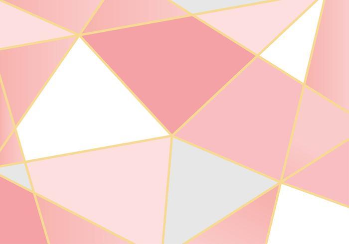 Geometrische Rose Gold achtergrond vector