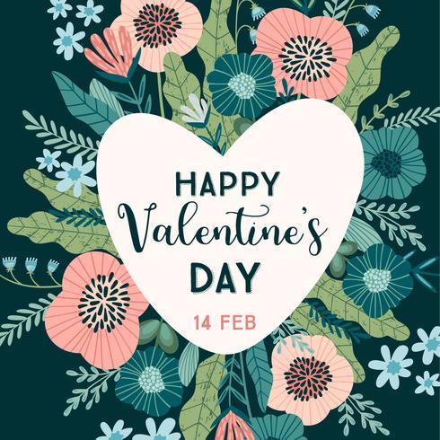 Bloemenontwerpconcept voor Valentijnsdag en andere gebruikers. vector