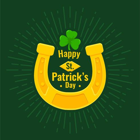 Lucky Horseshoe op St. Patrick's day vector