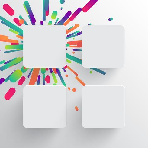 Kleurrijk leeg malplaatje voor reclame, vectorillustratie vector
