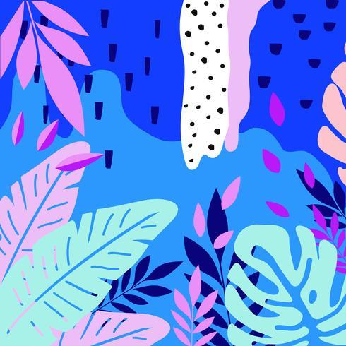 Tropische jungle verlaat achtergrond vector