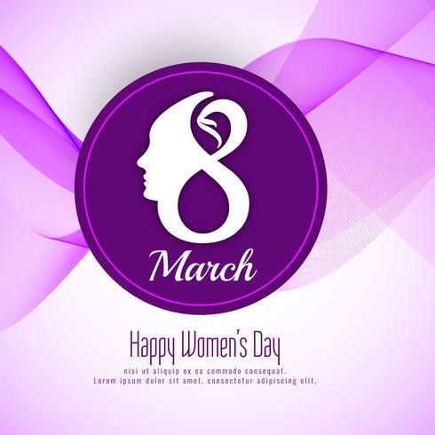 Abstract Happy Women's Day achtergrondontwerp vector