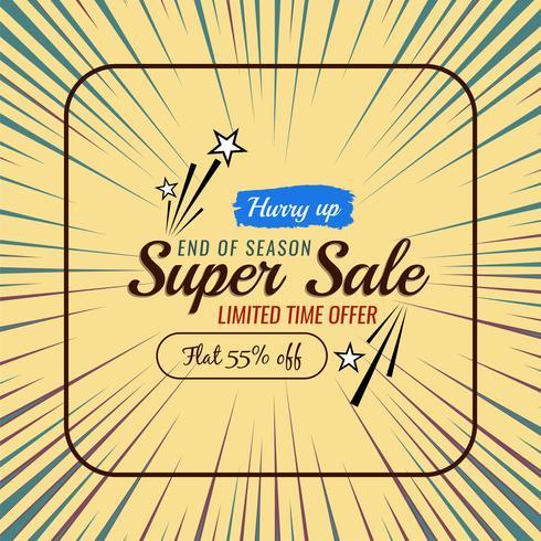 Abstracte verkoopaanbieding kleurrijke achtergrond vector