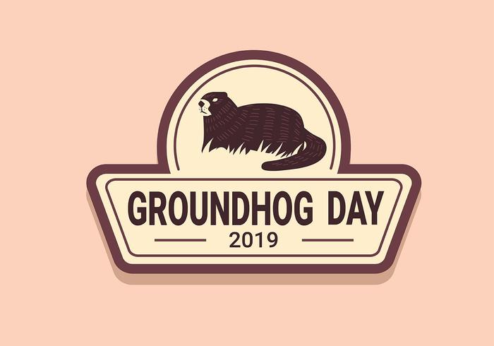 ground hog day vector