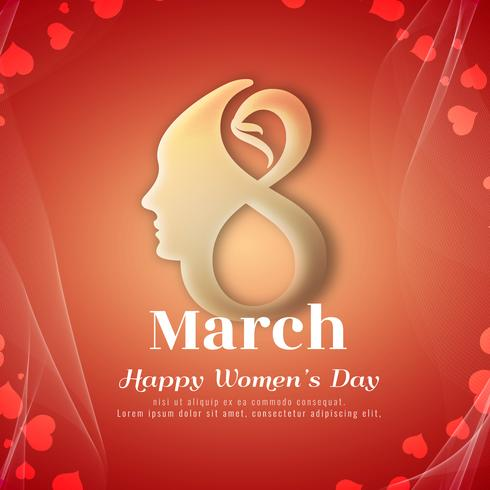 Abstract Happy Women's Day stijlvolle achtergrondontwerp vector