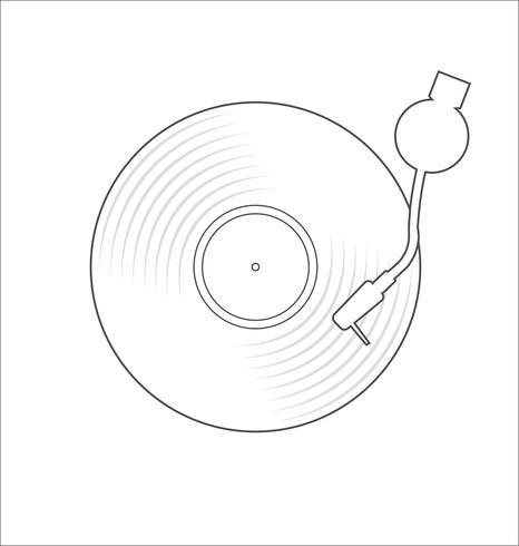 vinyl record disc plat eenvoudig concept vectorillustratie vector