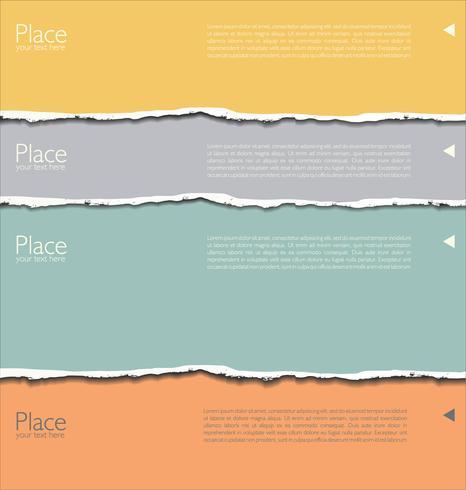 Lagen gescheurd papier boven elkaar geplaatst vector