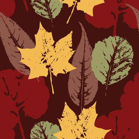 Abstract de herfst naadloos patroon met bladeren. vector