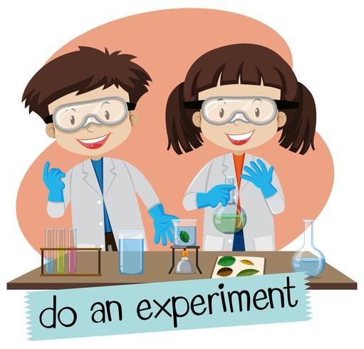 Wetenschapper die experiment in laboratorium doet vector