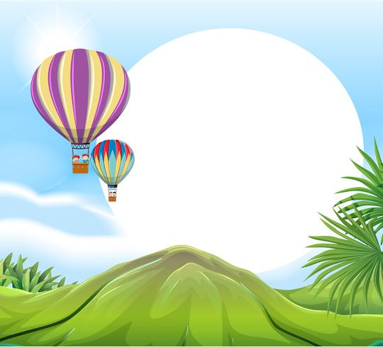 Luchtballon sjabloon vector