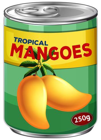 Kan van tropische mango's vector