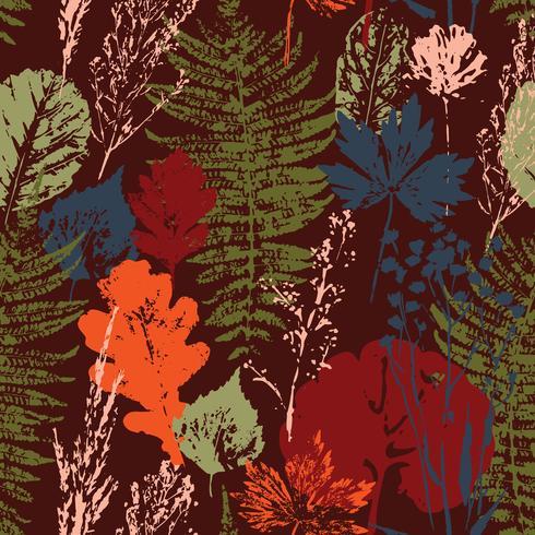 Abstract de herfst naadloos patroon met bladeren. vector