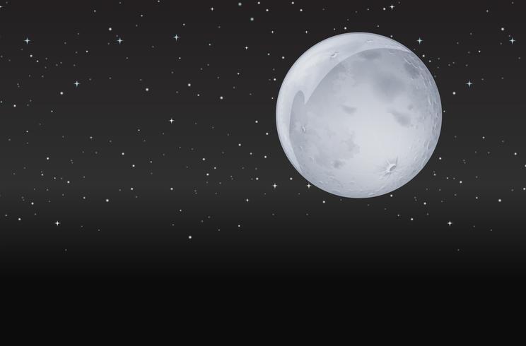 Maan in de donkere nacht vector