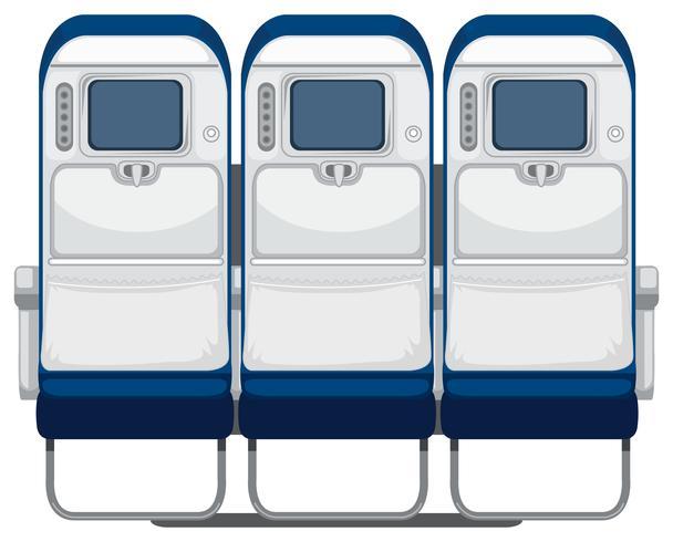 Achterkant van de vliegtuigstoel vector