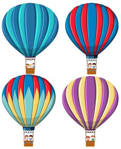 Set van hete luchtballon vector