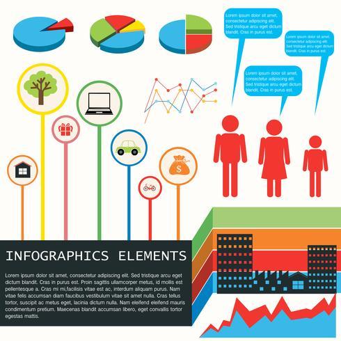 Een infografiek van de economie vector