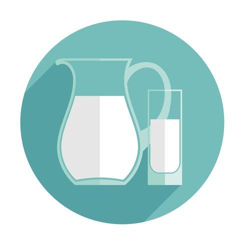 Vector moderne platte ontwerp illustratie van melk.