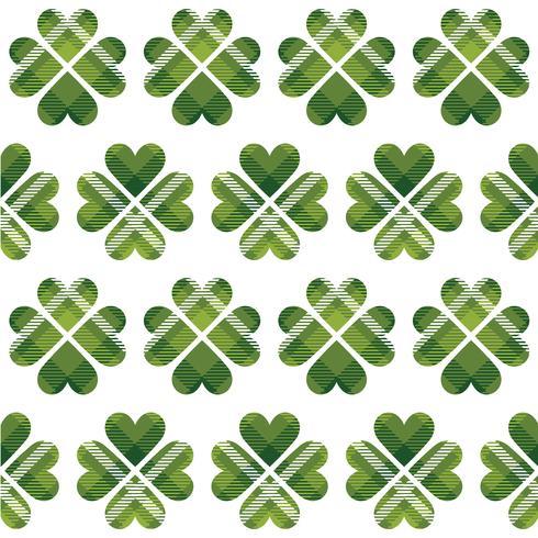 Saint Patrick's Day tartan naadloze patroon vector