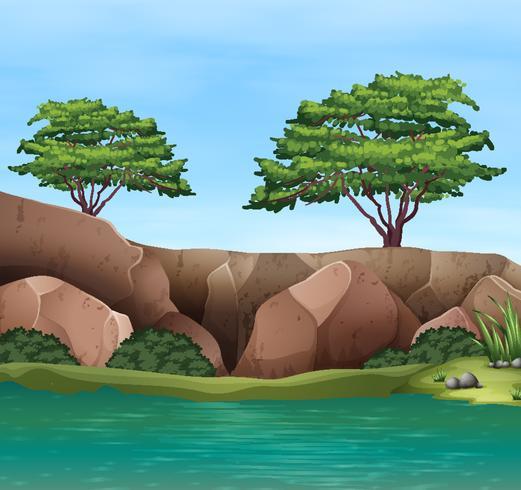 Prachtig waterlandschap vector