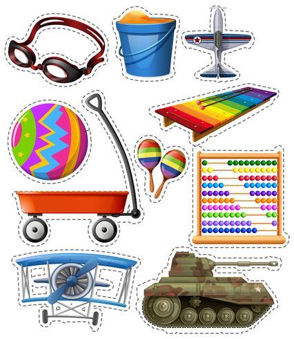 Verschillende soorten speelgoed vector