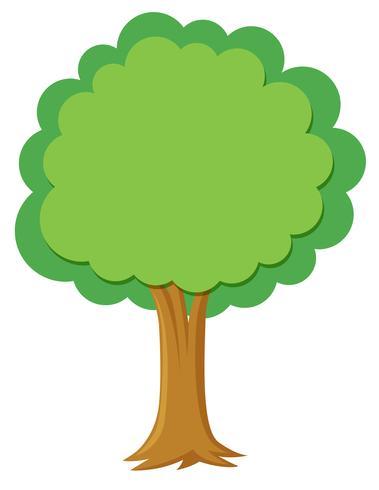 Een eenvoudige boom op witte achtergrond vector