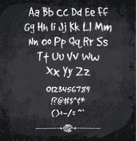 Vectorillustratie van chalked alfabet vector