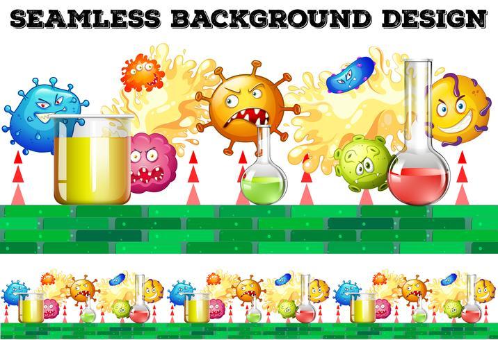 Naadloze bekers en bacteriën vector