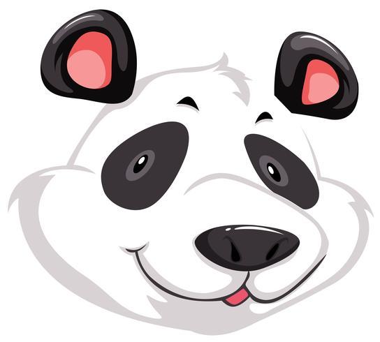 Een hoofd van de panda vector