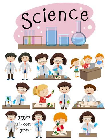 Een reeks wetenschappelijk onderwijs vector