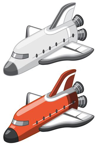 Een set spaceshuttle vector