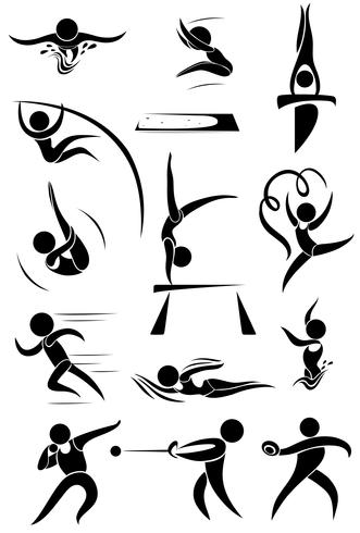 Sport pictogram voor veel sporten vector