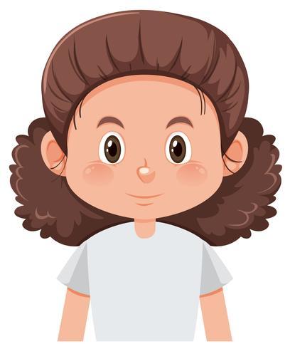 Een vrouwelijk karakter met krullend haar vector