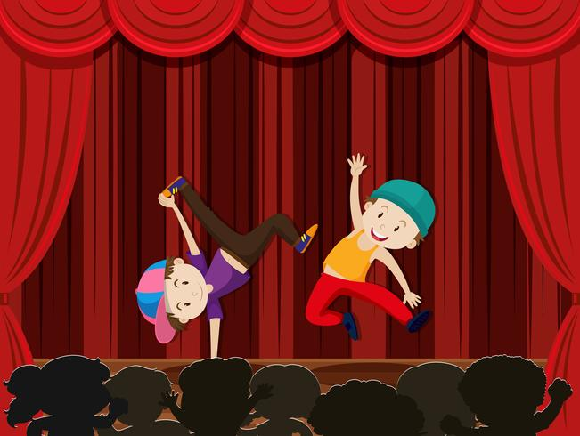 Een streetdance-uitvoering vector