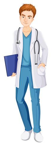 Een mannelijke verpleegster vector