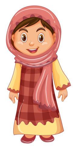 Schreeuw meisje in traditionele klederdracht vector