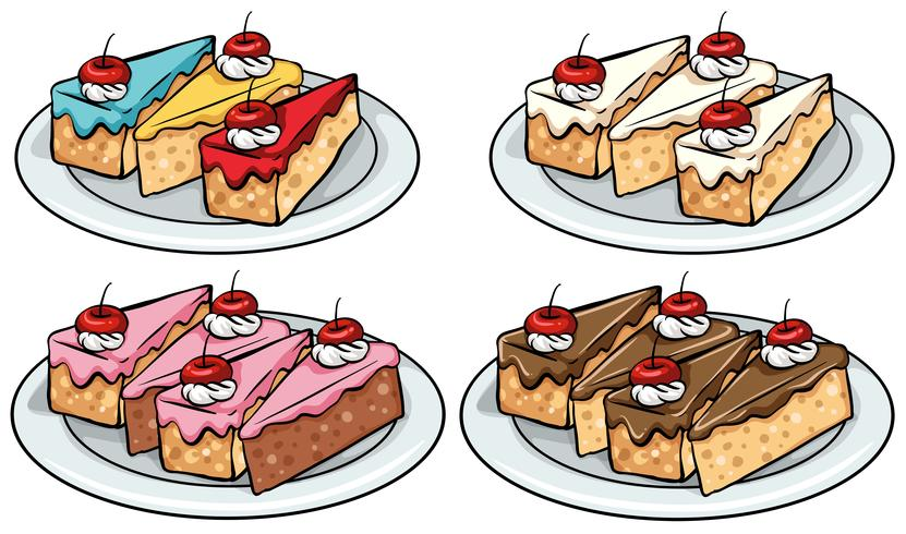 Set van cakes vector