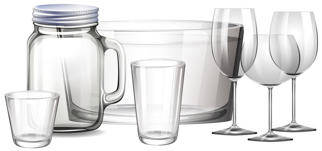Verschillende soorten containers vector