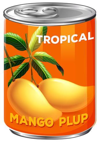 Een blikje mangopluk vector