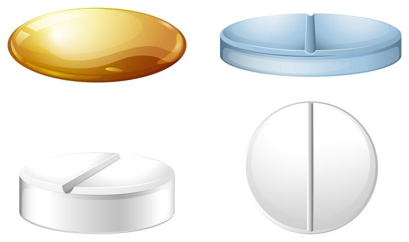 Een medicijncontainer vector