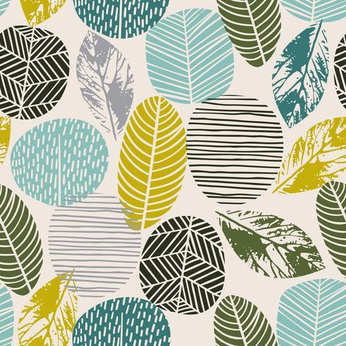 Abstract de herfst naadloos patroon met bomen. Vectorachtergrond voor diverse oppervlakte. vector